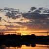 朝景色~その49『夜明け前の河辺』