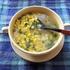 マクロビコーンスープとおまけのひげ茶