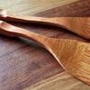 料理用の木ベラを作ってみた|自分の手に馴染む木製ヘラ