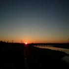 初日の出・立日橋 (多摩川)