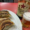 日本橋小伝馬町の昭和空間「福聚」で、ビール餃子セットとニラ玉