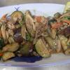 幸運な病のレシピ( 1463 )朝:ナス炒め(紫蘇味噌味)、鮭、アジ、サンマ、ナスの味噌汁