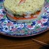 子どもと一緒に寿司ケーキ