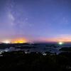 【天体撮影記 第110夜】 長崎県 石岳展望台園地は佐世保の夜景と九十九島の風景、そして夏の天の川を一緒に見れるところ