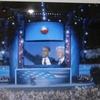 民主党大会でのオバマ大統領受諾のスピーチを聞く