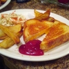 Yoshi Cafe - Grilled Cheese Sandwich and French Fry; Captain Ron's Lesson