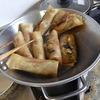 幸運な病のレシピ( 386 )朝:鳥かつ、手巻き春巻き、餃子メンチ、汁仕立て直し
