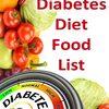 TYPE 2 DIABETES FOOD LIST