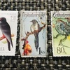 切手集め 鳥と蝶外国編
