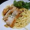 鶏もも肉とししピーのペペロンチーノの作り方/レシピ
