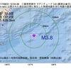 2017年08月31日 12時04分 三重県南東沖でM3.8の地震