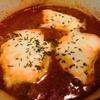【1食116円】焼きメンチ残りでイタリアンハンバーグ風トマトジュース煮込みの自炊レシピ