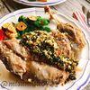 骨付き猪肉のネギソース【茹でイノシシ】