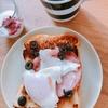 朝ご飯:ハムとオリーブで贅沢トースト☆業務スーパーオススメ品