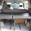 イレクターパイプで自作2段ベッド!車中泊も快適で棚にもなって荷物もたくさん積める仕様。