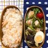 20170822鶏もも肉とアスパラのレモンペパーミックスソテー弁当