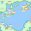 児島・岡山 遺跡分布図 (旧石器時代~弥生時代)