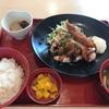 ジョイフルの日替わりランチ「唐揚げ黒酢あんかけ&えびフライ膳」