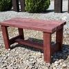 【DIY】アサヒペンで木製ベンチの塗装(ワインレッド)
