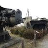 陸奥公園・戦艦陸奥の副砲、艦首など2 。山口県大島郡周防大島町。