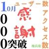 【日常】今月1000ユーザー数突破と今週1000アクセス数突破!