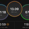 ジョギング13.09km・レース3週間前はセット練でスタミナにふた!