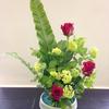 今日は、生け花のお稽古。習い始めて40年以上、ずっと続けます。