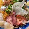 福岡渡辺通、鮨・あつ賀で海鮮丼ランチおじさん