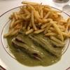メニューは1品、ステーキセットのみ。そして、おかわり有のフランス料理店。 Le Relais de Venilse I'Entrecote in  London Soho