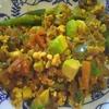 野菜スープのキーマカレー風