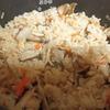 手作りサラダチキンと舞茸ご飯