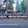 昨日の自転車のレース
