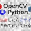 Python で遊ぶ - 画像認識 -