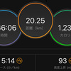 ジョギング20.25km・【岩本式サブ3.5メニュー第2週目】昨日は真夜中のビルドアップ走