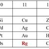 金以上の元素 レントゲニウム