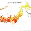 【暑すぎる】19日17時時点で656地点で真夏日・206地点で猛暑日に!京都府京都で39.8℃を観測!昨日に引き続き40℃超えとなるか!?