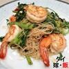 【タイ嫁レシピ#3】タイ家庭料理の作り方「エビとパック・グラジェーの焼きビーフン」