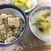 とり昆布ご飯、白菜の牛乳煮