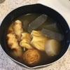 帰省しない年末年始、おでんを作ってみた。今朝のオートミールご飯。