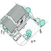 家を上から描くと以外に大変です。   家のイラスト