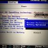 ThinkPad X1 Carbonのキーボード面が熱くなるので、熱くならない設定に切り替える