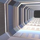 Blender 304日目。「SFデザインの廊下のモデリング」その1。