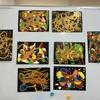 軽度認知機能障害回復プログラムなつめで臨床美術「色のアラベスク」を行いました
