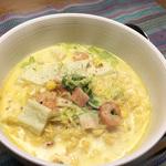 《オトコ飯》お正月料理に飽きたら、カップヌードルで簡単クラムチャウダーヌードル!