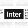 ユーザーインターフェース向けにデザインされた使いやすいオープンソースフォント「Inter」