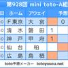 【minitoto928回】【結果】ルヴァン杯は中途半端が一番駄目