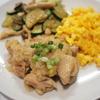 鶏ももねぎ塩梅ジャム炒めと彩り添え物