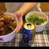 """【松屋】""""ごろごろ煮込みチキンカレー""""と""""ネギたっぷりネギ塩豚肩ロース丼""""を食べた"""
