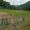 神田球場外野ネット嵩上げ