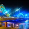 【ベトナム】リゾート開発で発展し続けているダナン!有名なドラゴンブリッジの夜景